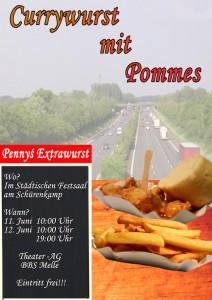 Plakat Curry mit Pommes