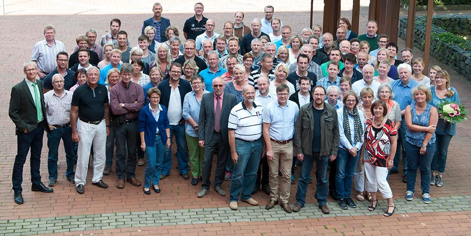 Die Mitarbeiter und das Kollegium der BBS Melle im September 2015