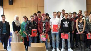 Die Absolventen der Berufseinstiegsschule. (c) Foto: Heidrun Freier