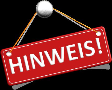 HINWEIS!